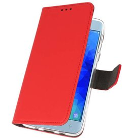 Wallet Cases Case for Galaxy J3 2018 Red