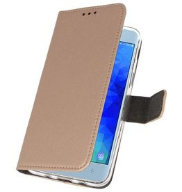 Wallet Cases Case for Galaxy J3 2018 Gold