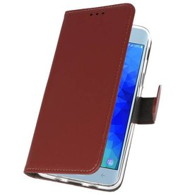 Wallet Cases Case for Galaxy J3 2018 Brown