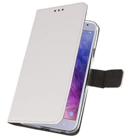 Wallet Cases Case for Galaxy J4 2018 White