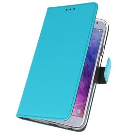 Wallet Cases Case for Galaxy J4 2018 Blue