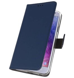 Wallet Cases Case for Galaxy J4 2018 Navy