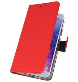 Wallet Cases Case for Galaxy J4 2018 Red