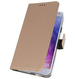Wallet Cases Case for Galaxy J4 2018 Gold