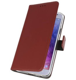 Wallet Cases Case for Galaxy J4 2018 Brown