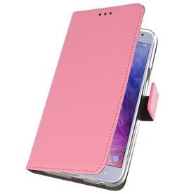 Wallet Cases Case for Galaxy J4 2018 Pink