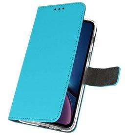 Wallet Cases Hoesje voor iPhone XR Blauw