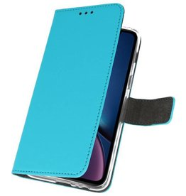 Wallet Cases Tasche für iPhone XR Blau