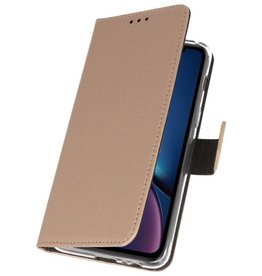 Wallet Cases Hoesje voor iPhone XR Goud