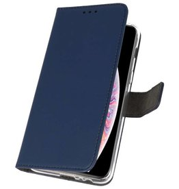 Wallet Cases Hoesje voor iPhone XS Max Navy
