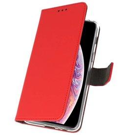 Wallet Cases Hoesje voor iPhone XS Max Rood