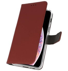Wallet Cases Case for iPhone XS Max Brown