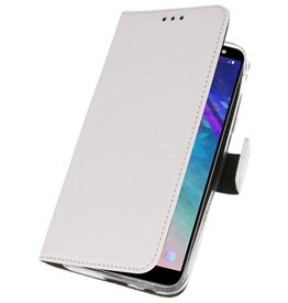 Wallet Cases Case for Galaxy A6 (2018) White