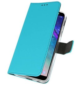 Wallet Cases Case for Galaxy A6 (2018) Blue