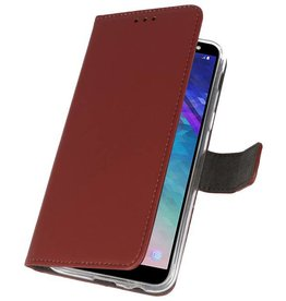 Wallet Cases Case for Galaxy A6 (2018) Brown