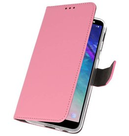 Wallet Cases Case for Galaxy A6 (2018) Pink