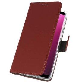 Wallet Cases Hoesje voor Galaxy S9 Bruin