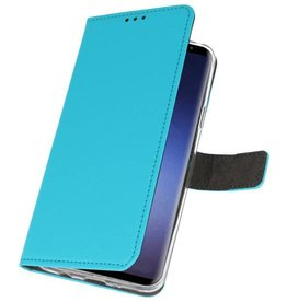 Wallet Cases Case for Galaxy S9 Plus Blue