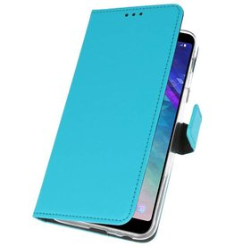 Wallet Cases Case for Galaxy A6 Plus (2018) Blue