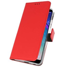 Wallet Cases Case for Galaxy A6 Plus (2018) Red