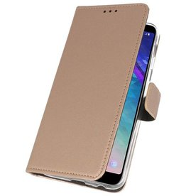 Wallet Cases Case for Galaxy A6 Plus (2018) Gold