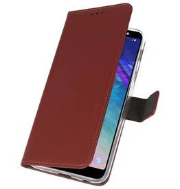 Wallet Cases Case for Galaxy A6 Plus (2018) Brown