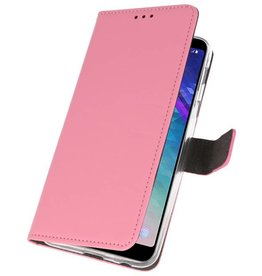 Wallet Cases Case for Galaxy A6 Plus (2018) Pink