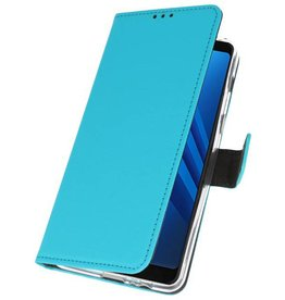 Wallet Cases Case for Galaxy A8 2018 Blue