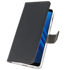 Wallet Cases Case for Galaxy A8 Plus 2018 Black