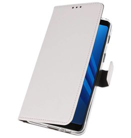 Wallet Cases Case for Galaxy A8 Plus 2018 White