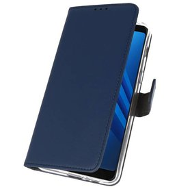Wallet Cases Case for Galaxy A8 Plus 2018 Navy