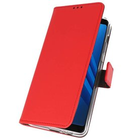 Wallet Cases Case for Galaxy A8 Plus 2018 Red