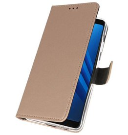 Wallet Cases Case for Galaxy A8 Plus 2018 Gold