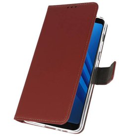 Wallet Cases Case for Galaxy A8 Plus 2018 Brown