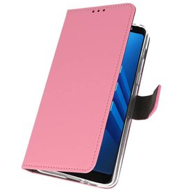 Wallet Cases Case for Galaxy A8 Plus 2018 Pink
