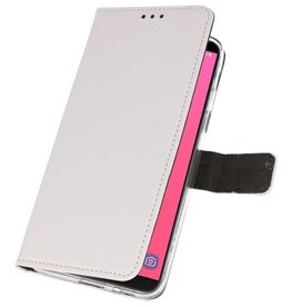 Wallet Cases Case for Galaxy J8 White