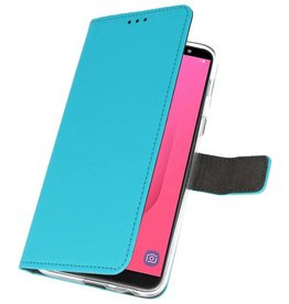 Wallet Cases Case for Galaxy J8 Blue