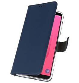 Wallet Cases Case for Galaxy J8 Navy