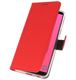 Wallet Cases Case for Galaxy J8 Red
