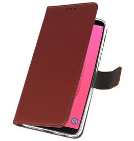 Wallet Cases Case for Galaxy J8 Brown