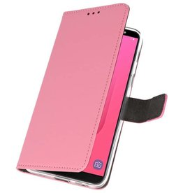 Wallet Cases Case for Galaxy J8 Pink