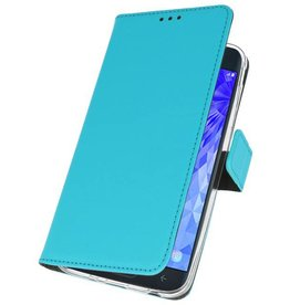 Wallet Cases Case for Galaxy J7 2018 Blue