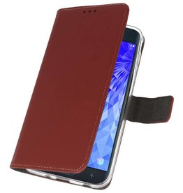 Wallet Cases Case for Galaxy J7 2018 Brown