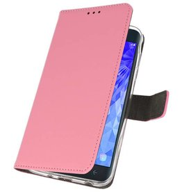 Wallet Cases Case for Galaxy J7 2018 Pink