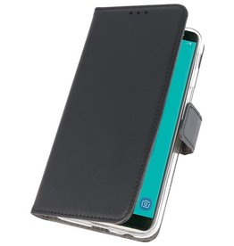 Wallet Cases Hoesje voor Galaxy J6 2018 Zwart