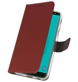 Wallet Cases Case for Galaxy J6 2018 Brown