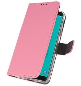 Wallet Cases Case for Galaxy J6 2018 Pink