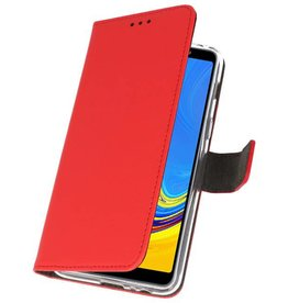 Wallet Cases Hülle für Galaxy A7 (2018) Rot