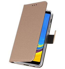 Wallet Cases Case for Galaxy A7 (2018) Gold