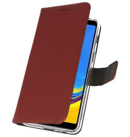 Wallet Cases Hülle für Galaxy A7 (2018) Braun